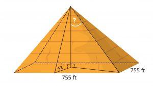 3D trig problem pyramid