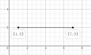line segment horizontal