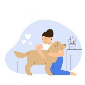 maya and dog