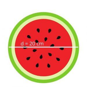 watermelon diameter