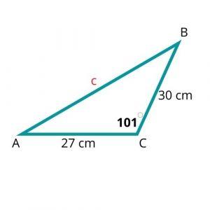 cosine law opposite side