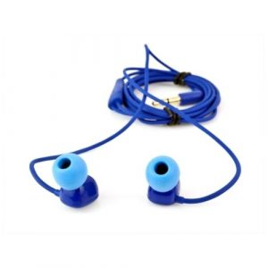 blue earbuds