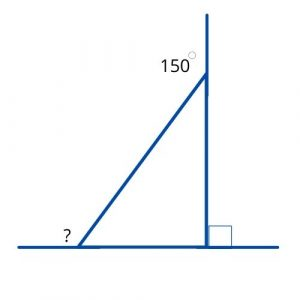 missing exterior angle triangle