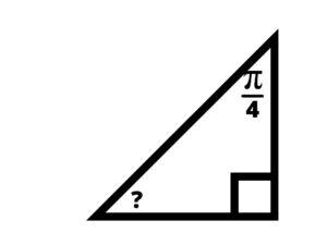 right triangle 45