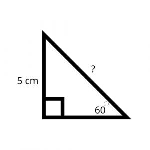 right triangle missing hypotenuse