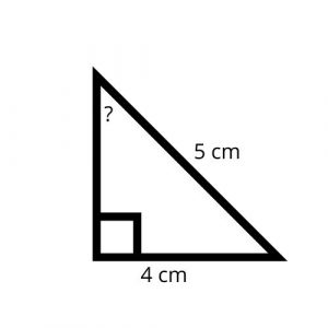 right triangle missing angle