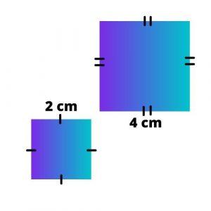 two similar squares