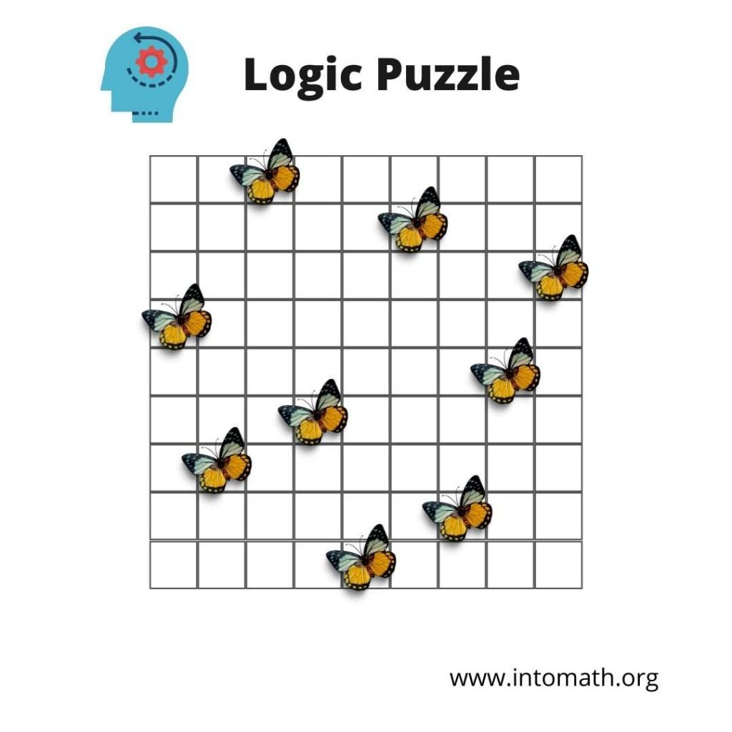 math puzzles logic with butterflies