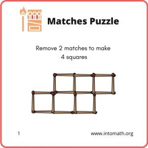 math puzzles remove 2 matches