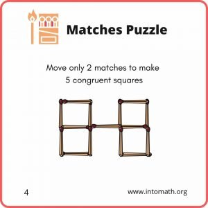 math puzzle move only two matches