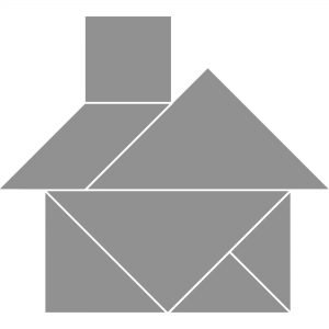 tangram house template