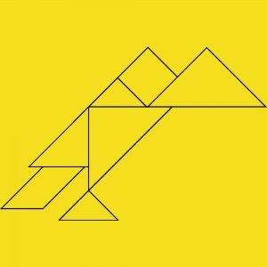 tangram bird template