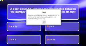 Linear Relations Game