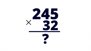 multiply by a double digit number