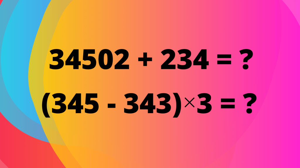 operations with large numbers