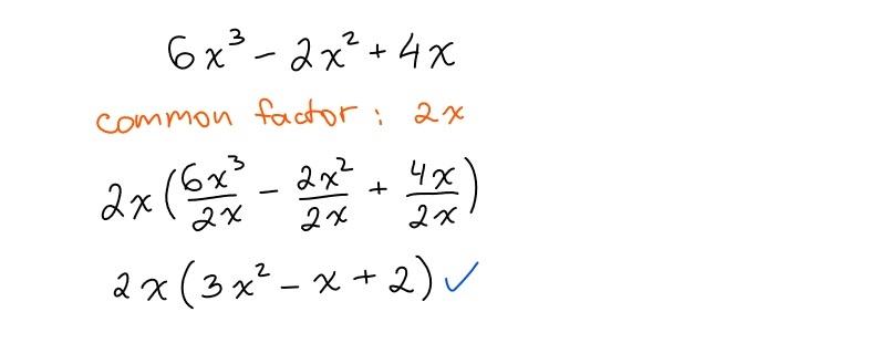 common factoring quadratics