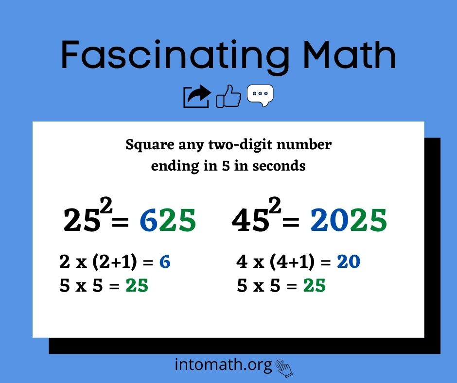 square a number ending in 5