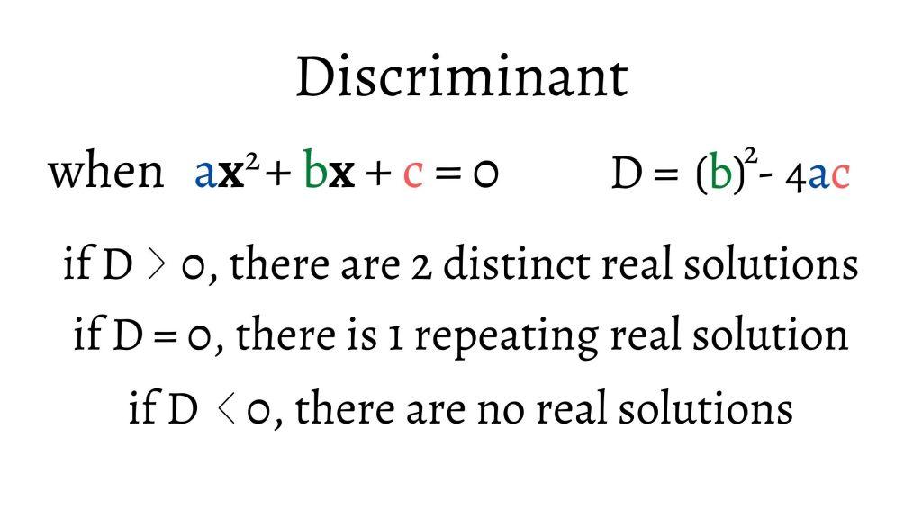 discriminant cases